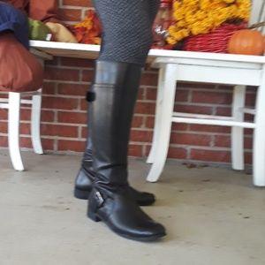 Nine West boots black leather Vasookie 6.5